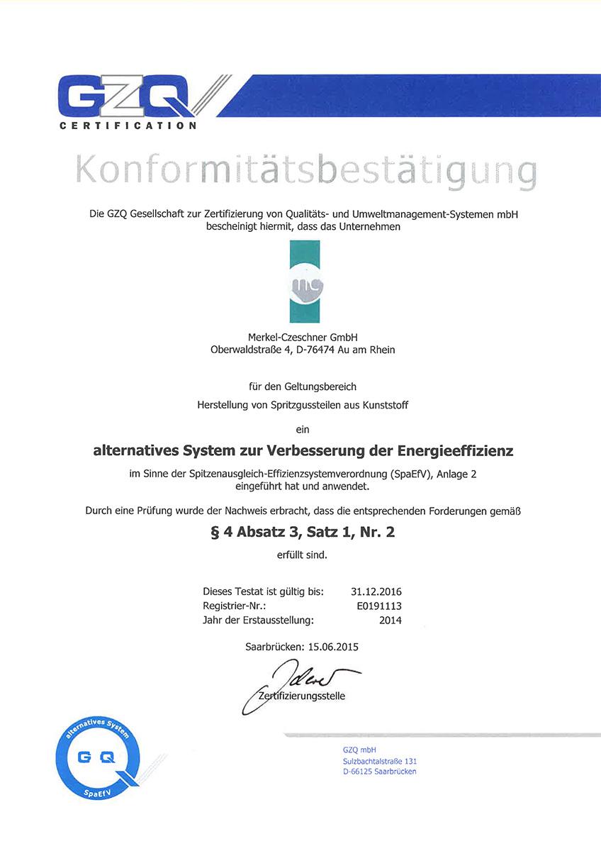 Zertifikat-ueber-alternatives-System-zur-Verbesserung-der-Energieeffizienz