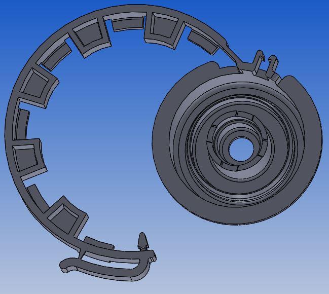 CAD Zeichnung Abdeckkappe